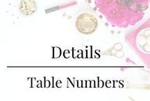 Details - Table Numbers