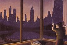 Paintings by Rob Gonsalves / more ... http://huckleberryfineart.com/Rob-Gonsalves-prints/