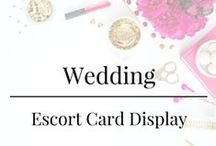 Wedding - Escort Card Display / Escort Card Display Ideas