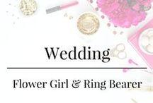 Wedding - Flower Girl & Ring Bearer / Flower Girl & Ring Bearer - Ideas for fashion and details