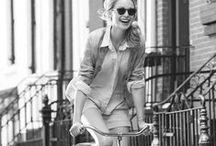 Bicycle Girls / Cool girls cycling on bikes