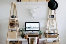 Eclectic Home Office / Inspiration for the home office. Ideas on how to make your working from home space unique and eclectic
