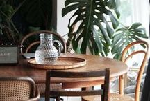 Eclectic Dining Room / Home decor inspiration for how to create an eclectic dining room.