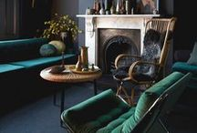Dark Interiors / Dark, moody, rich, deep, cosy interiors. Interior design inspiration on creating a warm room which also stands out from the crowd. Bold and courageous decor.