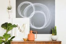 DIY : Wall Art Ideas / Inspiration  and tutorials on how to make and create your own art. For your interior home walls.