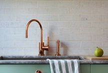 Copper Kitchen / Home decor inspiration for a copper kitchen. Metallic accessories. Rose gold hues. Eclectic vibes.