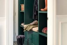 Walk in Wardrobe / Open plan walk in wardrobe ideas for the home. Open closets with clever storage ideas. Inspiration on how to display your clothes in your eclectic bedroom.
