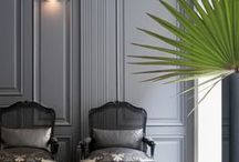 Parisian Style Decor / French inspired home interior design. Parisian / Parisienne chic. Modern regency style home. Eclectic but simple and effortless.