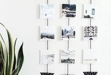 Photos in the Home / Ideas and inspiration for a personalised home. full of memories and photos. Ways to display them on the wall.