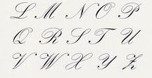 Calligraphie   Copperplate & Spencerian / Calligraphie moderne, anglaise, copperplate, plume pointue