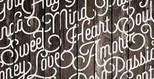 Typo et lettrages / Typography Lettering Handlettering Handletters Typographie Lettrage