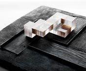 MODELS IN WOOD / Maquettes en bois.