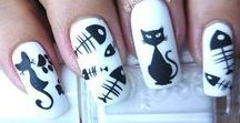 uñas decoradas con gatos / diseños de uñas de gato , uñas decoradas congatos http://decoratefacil.com/unas-decoradas-con-gatos/