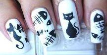 uñas decoradascon gatos / diseños de uñas de gato , uñas decoradas congatos http://decoratefacil.com/unas-decoradas-con-gatos/