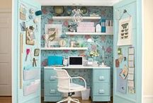 Organizing: Small Home Offices / How To Create A Home Office Out Of Any Small Space / by The Organizing Boutique