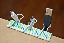 News Uses For Old Things: Binder Clips / Repurposing binder clips to save time and money. / by The Organizing Boutique