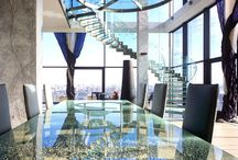 Стекло / Использование стекла в жилых и коммерческих интерьерах. Стекло позволяет разбивать пространство, не ограничивая его визуально. Фасады Архитектура, стекло, стеклянные перегородки, дизайн интерьера, проектирование.