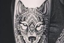 Tattoo / Wolf Mandala