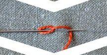 Sticknadel + Stoff   embroidery needle + fabric