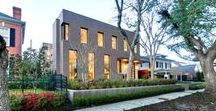 Modern Museum District / ouse located in the Museum District with floor to ceiling windows and sliding doors, giving the traditional brick layout a modern twist.   Builder: CB Cooper  Architect: Content Architecture