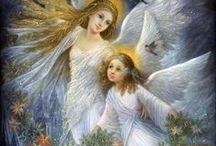 Art: Fantasy: Angels All Around Us / Illustrations, Figurines, Paintings / by Vonnie Davis