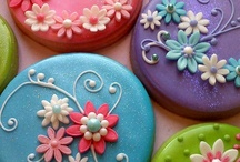 Celebrations❤Food❤Cookies / Decorated Cookies: Fondant, Royal Icing, Sugar Flowers. Some can be purchased online; a few may have recipes; others are just pictures.