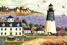 Art: Americana ~ Folk ~ Primitive / by Vonnie Davis