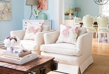 ReCreate the Room: Pops of Pink Vintage Living and Dining Room by Sheely / We love the charming and vintage feel of this light and airy living room/dining room! See how we have Recreated the Room using Sheely's Furniture pieces!