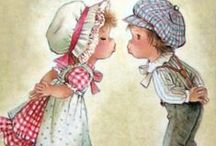 "Art❤Illustrators❤Holly Hobbie♡Sarah Kay / ""Prairie"" children❤Constanza♡Holly Hobbie♡Sarah Kay♡Tracy Lizotte"