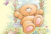 Art: Animals: Cute Critters: Care Bears ~ Forever Friends ~ Tatty Teddies / by Vonnie Davis