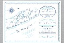 Illustrated Islands: The Hampton's / Our Illustrated Island series is a beautiful letterpressed tri-fold map inspired Save The Date, perfect for any coastal themed wedding! Let us know the exact town your event is taking place and well make sure to star & name it on the map. Add this cute decorative belly band to top off your save the date.   http://icecreamsocialshoppe.com/collections/illustrated-islands-save-the-date-map-series/products/illustrated-islands-the-hamptons#.U1509F6HCro