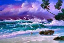 Art: Charming Beaches & Seascapes / by Vonnie Davis