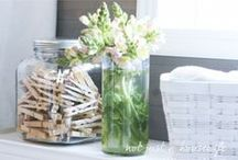 Laundry / laundry tips and tricks, laundry room ideas and inspiration  / by Amy .