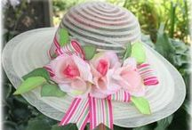 ♥♥ ~ Ladies Tea Hats ~ ♥♥ / I have loved hats all my life.  These hats are standouts at tea parties.  If you loves hats as much as we do, check out boards for other hat styles found here!