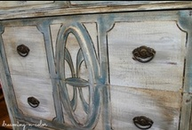 Awesome Painted Furniture & More / Furniture redos only! Wonderful Techniques, hand painted,  layered painted Please only link to the original post. Only one pin per post. All off-topic wil