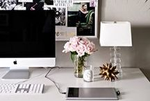 Home Office Envy / Inspiring home offices/work spaces for the creative woman in business!