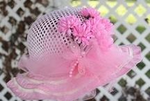 ♥ Lil' LadyTea Hats ♥ / Very fancy tea hats for the little girl who loves to dress up like mommy or grandma. Each one of the decorated hats from Garden Party Teas are one-of-a-kind creations.