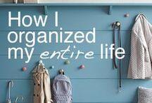 Organizing my life.