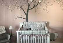 Baby Girl Nursery / AZ based business www.kidmuralsbydana.com traveled to Houston, TX to paint this adorable baby girls nursery. Her best friend of many years was having her first baby so we did the room all fancy! The flowers on the trees have little sparkle sequins and there is a tiny little elephant painted at the base of the crib. This is a perfectly put together baby girl nursery. Tree mural - nursery mural - girl nursery - baby nursery - tree nursery - kids room decor - decor for kids - nursery decor