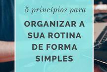 organização e planejamento.