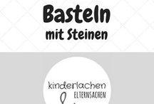 Basteln mit Steinen / Einfache Stein DIY Anleitungen und Bastelideen mit Steinen für Kinder