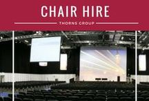 Chair Hire / As the UK's leading chair hire supplier we have the largest volume of chairs and seating to suit any event. For small gatherings or large scale events our chair hire specialists will help you to find the perfect chair. Simply select one of the categories below and start browsing our inventory which includes classic to contemporary designs and offers a great choice of colours.  http://www.thorns.co.uk/furniture/chairs.html