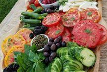 Veggie food / Selection of delicious vegetarian and vegan food