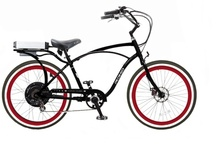 Pedego Classic Comfort Cruiser Electric Bicycles / As the name implies, form and function are combined to provide a cool looking electric bike cruiser that is a comfortable alternative to the car or classical bicycle. Ride it to work, run your errands, get some exercise, or just get out there and have a good time. All models blend fashionable retro-cruiser style with high quality electric components to carry you quickly and easily to wherever you want to go.