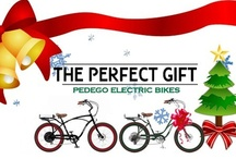 Pedego E-bike: The Perfect Gift / Thinking of the perfect holiday gift to give or add to your own wish list? You've found it! Pedego electric bikes make great gifts for people looking to have some fun, get fit, or ditch their car for an alternative mode of transportation. We offer an array of different e-bike models ranging from 36V to 48V batteries, 400 to 500 watt motors, throttle or pedal assist option, etc. Customize your Pedego model, frame, rims, & tires by visiting our online e-bike store. www.pedego.com