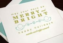 Chic Ink: Holiday Cards / These letterpress and flat printed holiday cards are perfect for Christmas, Hanukkah (Chanukkah), or any other holiday event you'd like to share.