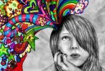 grafika, színező, rajz, festés/ technika