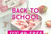 Sugar-Free Back To School / Get Back-to-School ready with our delicious selection of sugar-free treats the kids (And you) can enjoy #guiltfree!