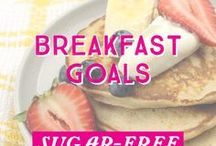 Breakfast Goals / #BreakfastGoals have never been easier! Whip up delicious #sugarfree and #nutritious breakfast meals to help kick start your mornings!