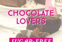 Chocolate Lovers / Dig in with all of your favourite chocolate recipes! Indulge with our #sugarfree, #vegan, and #glutenfree recipes! This one is for the chocolate lovers!